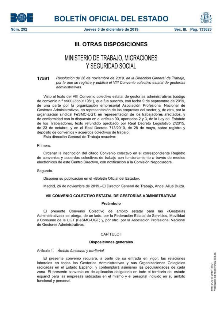 CONVENIO GESTORIAS ADMINISTRATIVAS