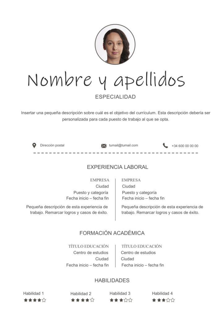 Curriculum Vitae Blanco