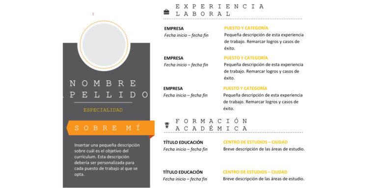 Modelo de Curriculum Vitae Creativo