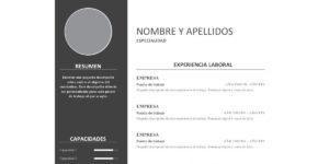 CV Sencillo Min