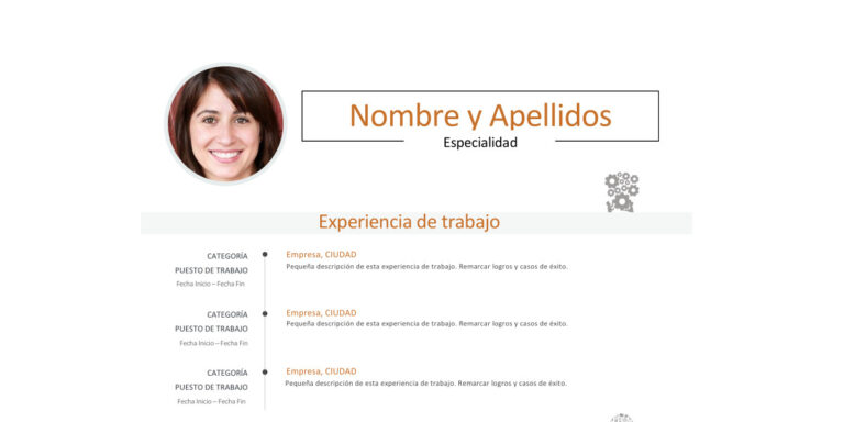 Modelo de Curriculum Vitae Simple de dos páginas