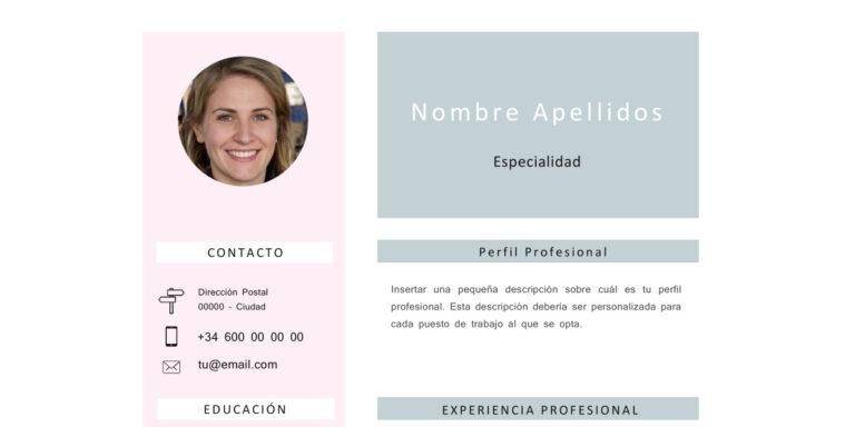Modelo de Curriculum Vitae Sin experiencia