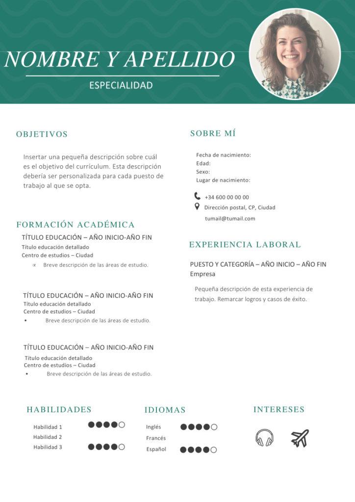 Curriculum Vitae Verde