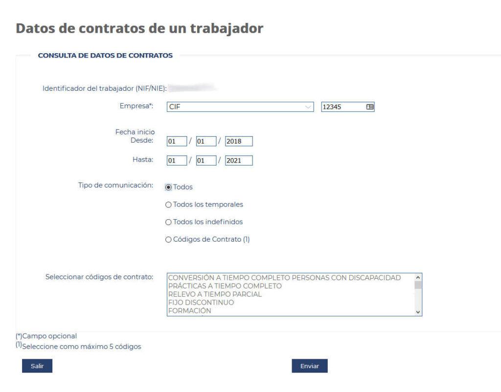 Datos para descargar contrato de trabajo