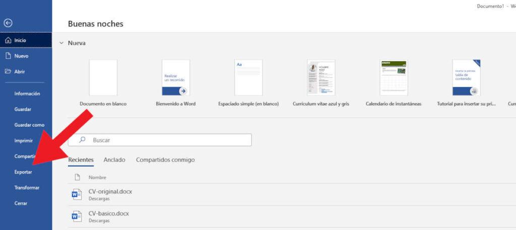 Convertir curriculum a PDF