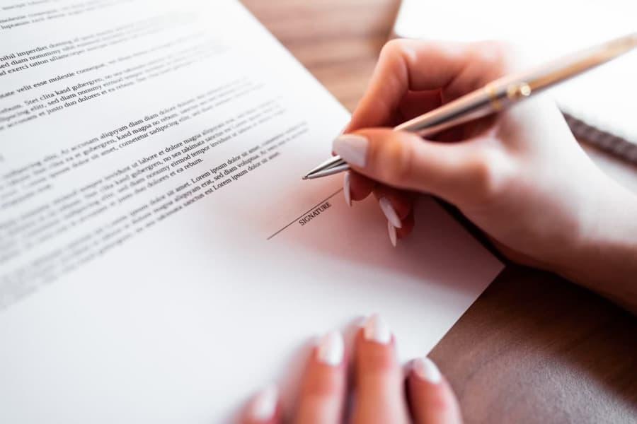 Firmar finiquito por fin de contrato