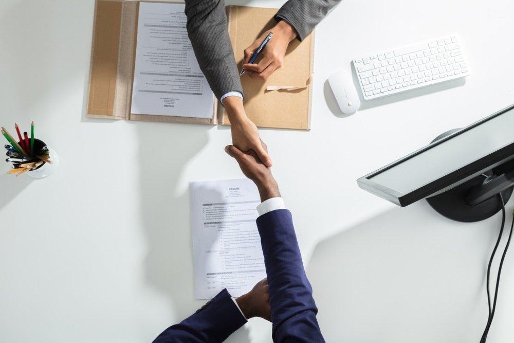 Éxito en una entrevista de trabajo