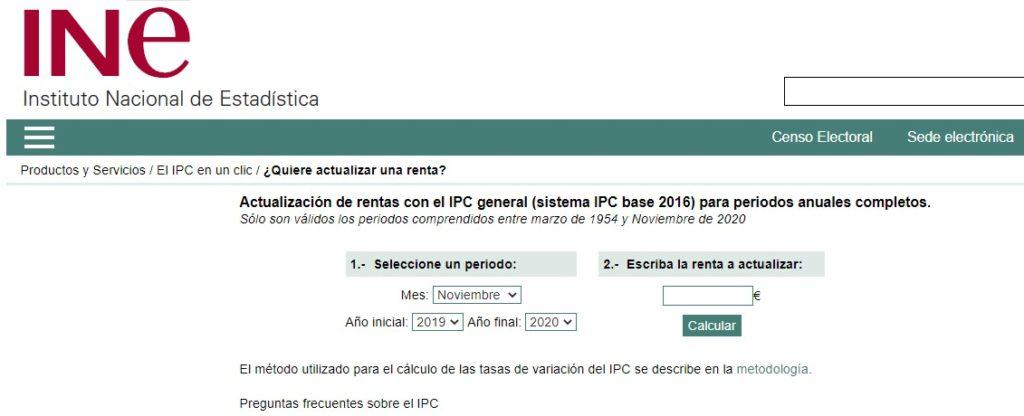 Herramienta INE para actualización bases cotización con IPC