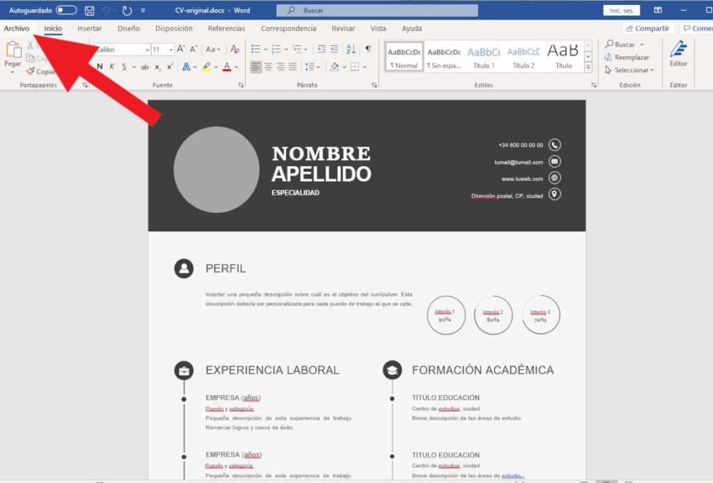 Instrucciones para pasar de WORD a PDF